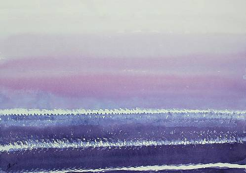 Atlantic Sunrise original painting by Sol Luckman