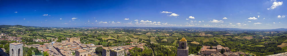 Atop the Bell Tower in San Gimignano by Rick Starbuck
