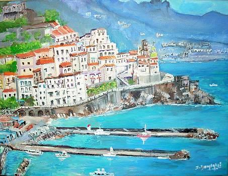 Atrani in Italy by Teresa Dominici