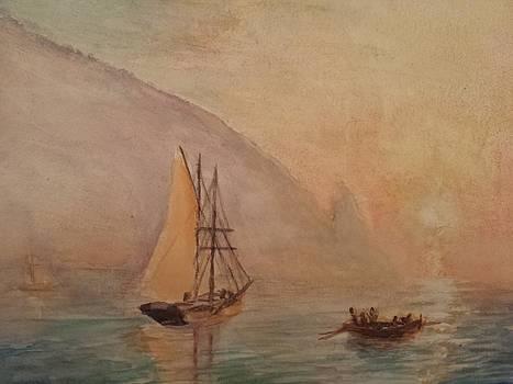 Au-Dag after I. K. Aivazovsky by J Anthony Shuff