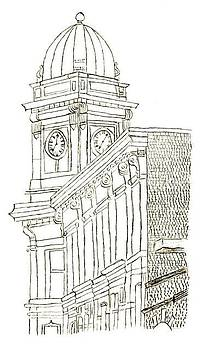 Auburn Clock Tower by Sara Davenport
