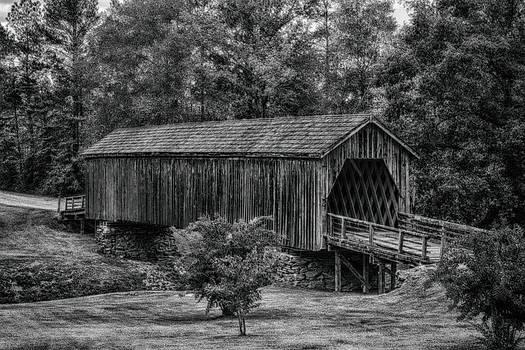 Auchumpkee Covered Bridge - B/W by Heather Roper