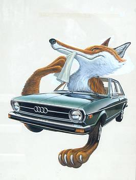 Audi Fox Artwork 1 by Mel Greifinger
