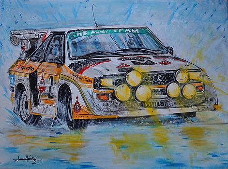 Audi Quattro on the rocks by Juan Mendez