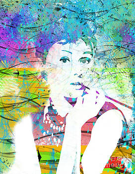 Audrey Hepburn -Delightful Expression by Trilby Cole