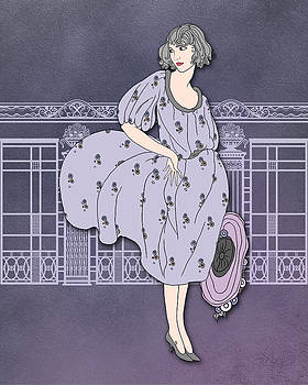 Nancy Lorene - AUDREY in Mauve and Gray