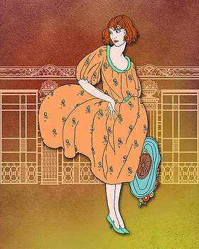 Nancy Lorene - AUDREY in Orange and Aqua