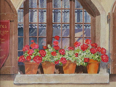August at the Auberge  by Mary Ellen Mueller Legault