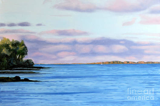 August Days Lake Ontario by Joan McGivney