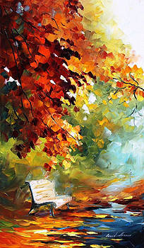 Aura Of October - PALETTE KNIFE Oil Painting On Canvas By Leonid Afremov by Leonid Afremov