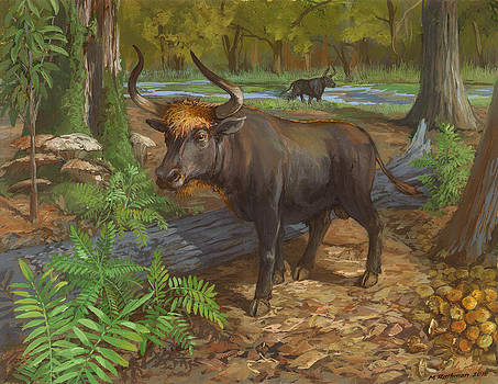 Aurochs by ACE Coinage painting by Michael Rothman