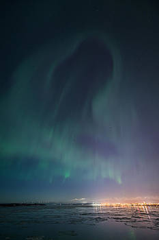 Aurora Above Anchorage by Roger Clifford