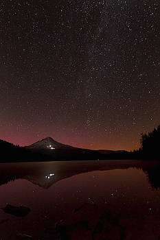 Wes and Dotty Weber - Aurora Glow Over Trillium Lake