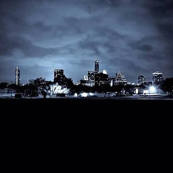 Austin Skyline During The Storm | Texas by Christy LaSalle