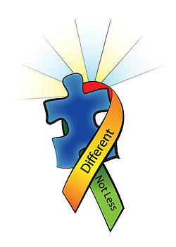 Jeanette K - Autism Ribbon with Puzzle Peace