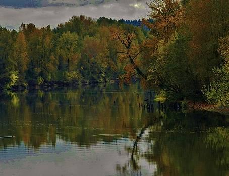 Charles Lucas - Autumn Along the Willamette