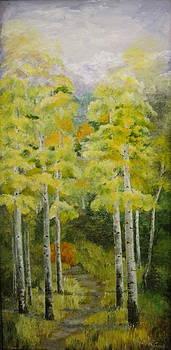 Autumn Aspens by Martha Efurd