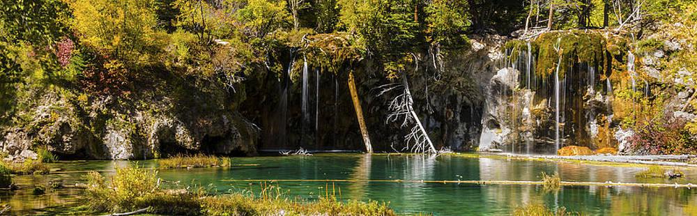 Brian Harig - Autumn At Hanging Lake Waterfall Panorama - Glenwood Canyon Colorado
