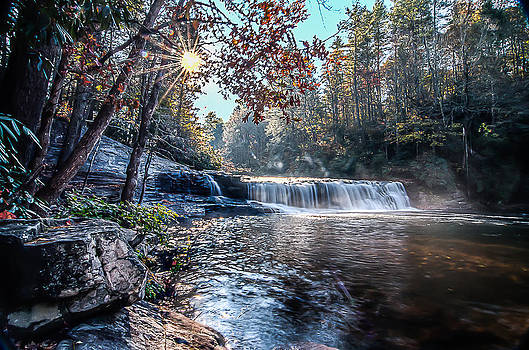 Autumn at Hooker Falls by Everett Leigh