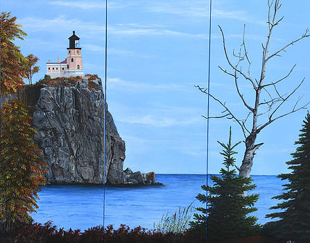 Autumn at Split Rock by Vicky Path