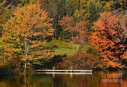 Autumn At The Dock by Sharon L Stacy