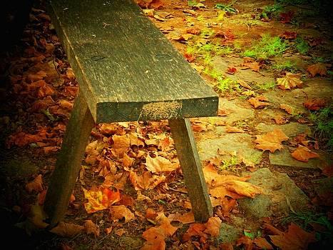 Autumn Bench by Joyce Kimble Smith