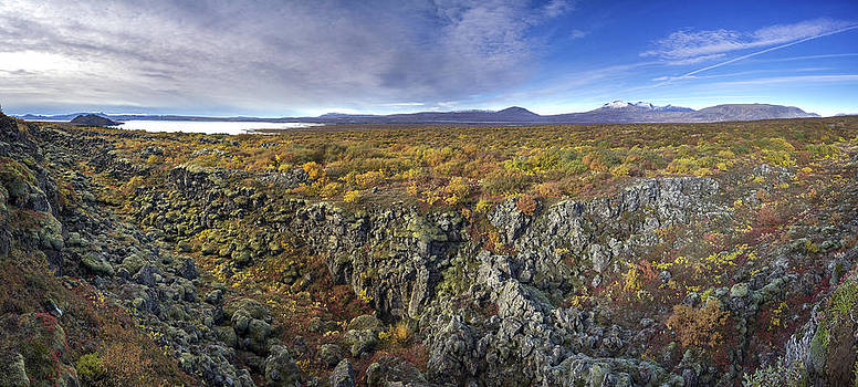 Autumn color at thingvellir by Arnar B Gudjonsson