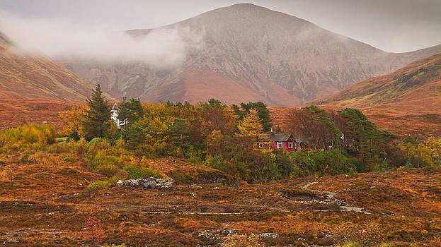 Autumn colors at Sligachan Scotland by Gabor Pozsgai
