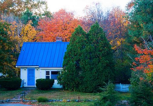 Autumn Cottage by Sandy Scharmer