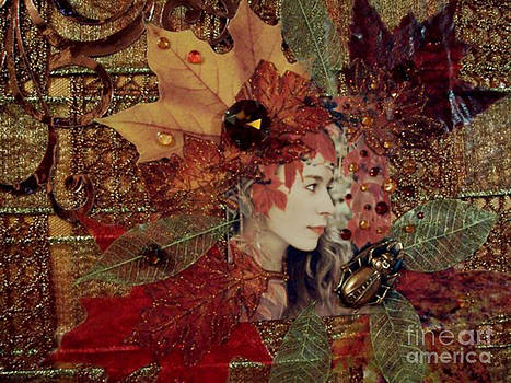 Autumn Dryad Collage by Maureen Tillman