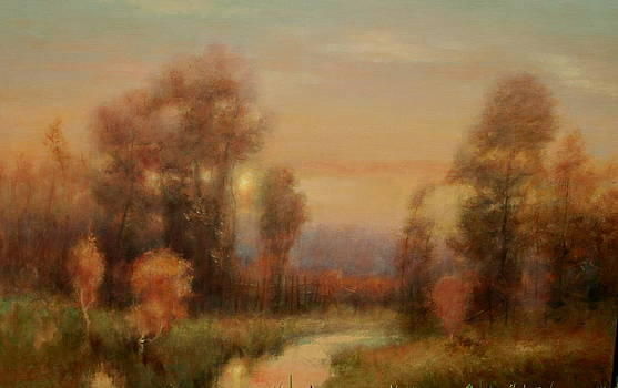 Autumn evening glow by Richard Hinger
