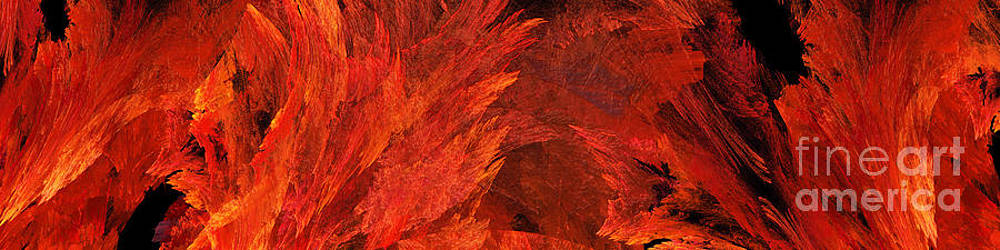Andee Design - Autumn Fire Abstract Pano 2