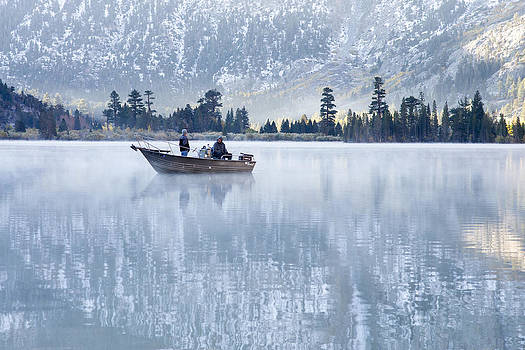 Priya Ghose - Autumn Fishing At Silver Lake