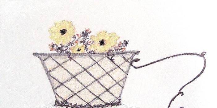 Autumn Flower Basket by Christine Corretti