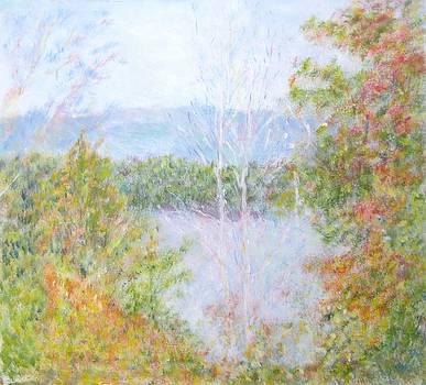 Autumn By the Lake in New Hampshire by Glenda Crigger
