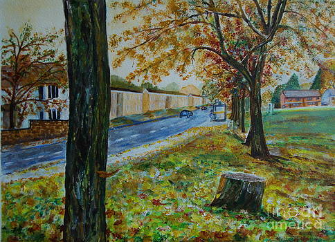 Autumn in South Road - painting by Veronica Rickard