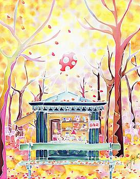 Autumn in the park by Hisayo Ohta