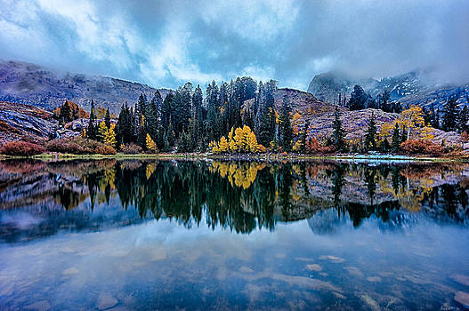 Autumn Lake Storm by Kevin Rowe