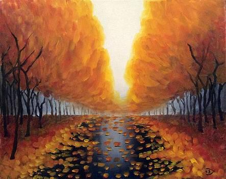 Autumn Leaves after the Rain by Velma Serrano