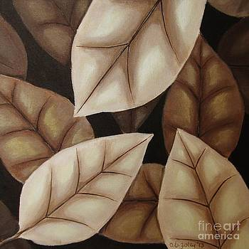 Autumn Leaves in Sepia by Anna Bronwyn Foley