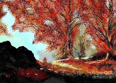 Autumn Leaves by Ruthann  Hanson