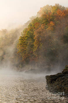 Paul Rebmann - Autumn Mist on Dale Hollow Lake