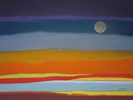 Autumn Moon and Sunset Sky by Harvey Rogosin