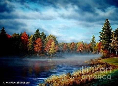 Autumn Morning on Ossipee River by Varvara Harmon