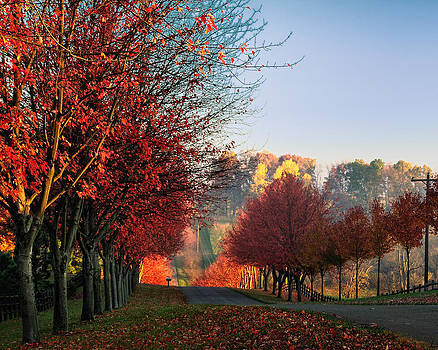 Autumn Ohio roads by Dick Wood
