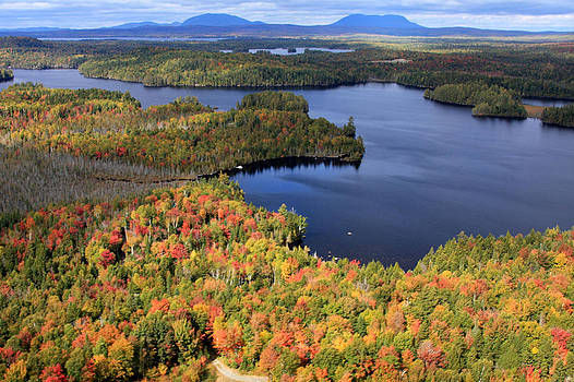 Autumn Over Moosehead Lake by Dana Moos