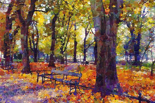 Autumn park by Boguslaw Florjan