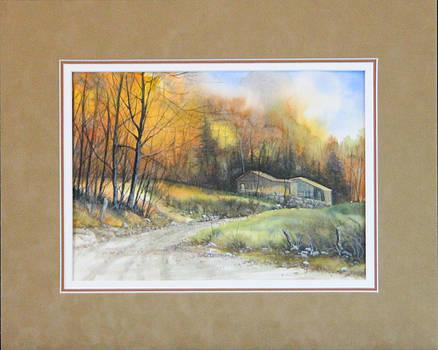 Autumn Path  140124-913 by Kenneth Shanika