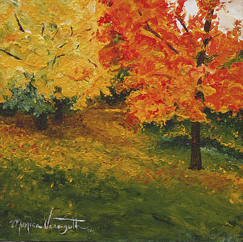 Autumn Path at Bluffside by Monica Veraguth