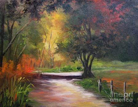 Autumn Path by Barbara Haviland Texas Artist by Barbara Haviland